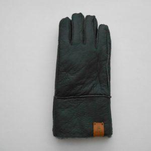 Handschoenen van leer grijs groen